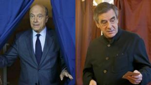 فرانسوا فیّون و آلن ژوپه دو نامزد انتخابات مقدماتی راست فرانسه