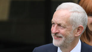 英國工黨領袖科爾賓 2017年6月9日 倫敦