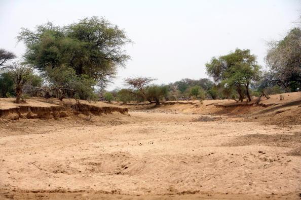 Un wadi asséché qui se gorgera d'eau lors de la venue de la saison des pluies.