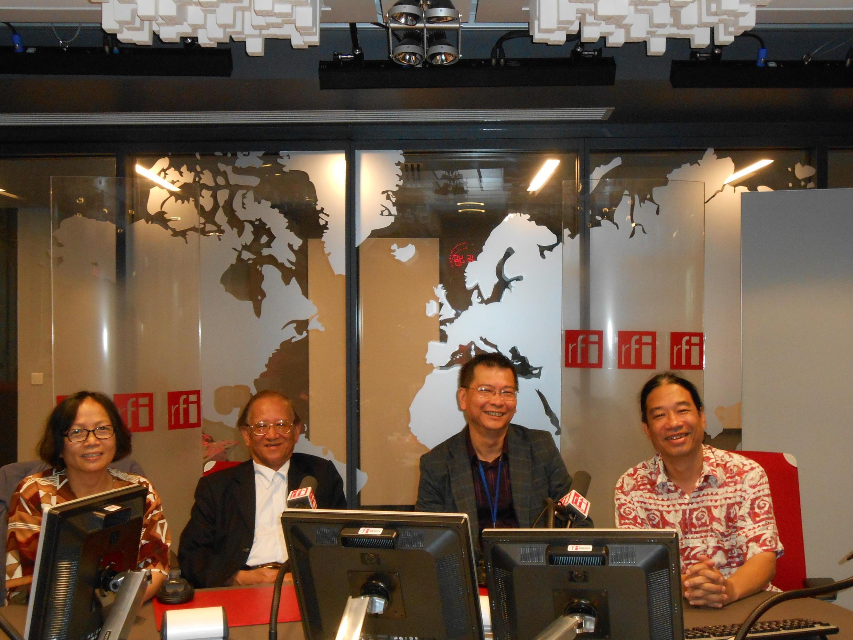 Từ trái sang phải: Tiến sĩ Trần Thu Dung, Giáo sư Nguyễn Thái Sơn, Thanh Phương, nhà báo, nhà văn Lê Anh Hoài