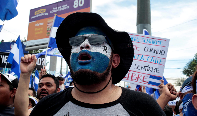Manifestation contre le gouvernement du président nicaraguayen Daniel Ortega à Managua, le 30 mai 2018.