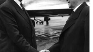 Charles De Gaulle et Konrad Adenauer