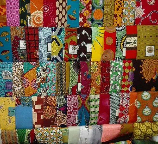 A selection of African print fabrics