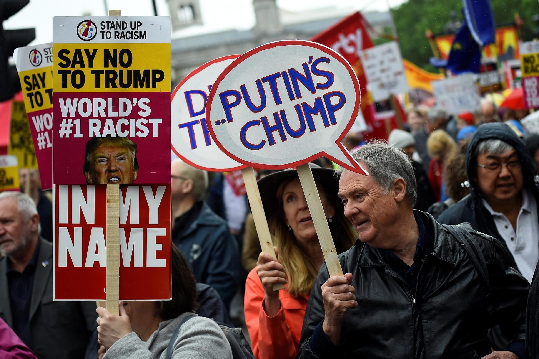 Manifestación anti-Trump en Londres, este 4 de junio de 2019.