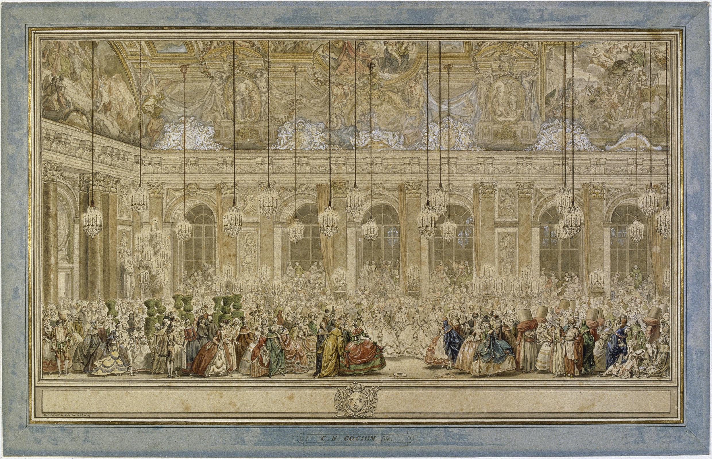 Bal masqué donné pour le Dauphin, Charles Nicolas Cochin le Jeune, vers 1745