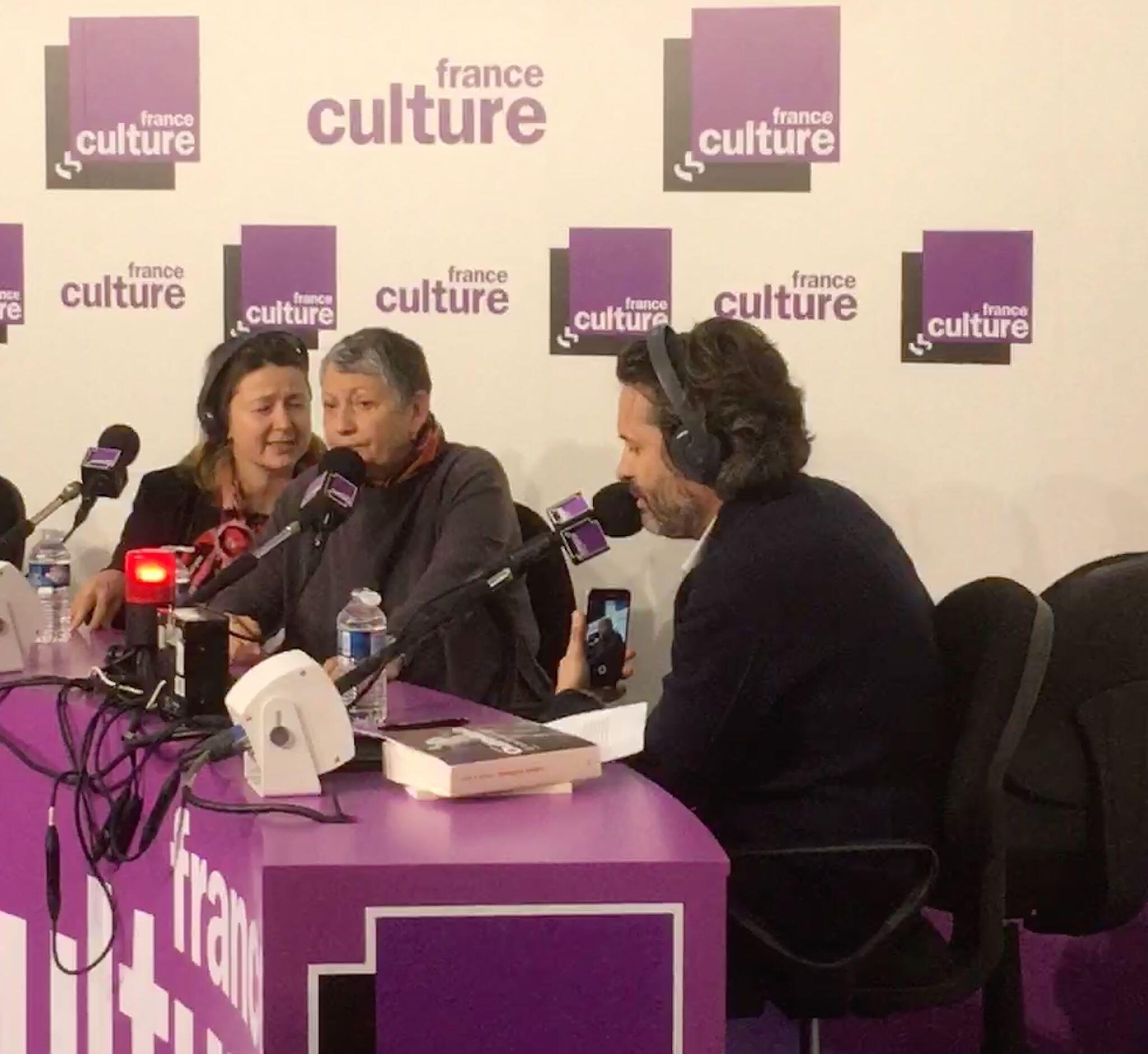 Людмила Улицкая дает интервью радио France Culture на Парижском книжном салоне