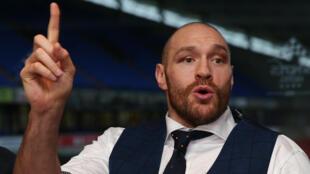 Tyson Fury, champion du monde britannique des poids lourds.