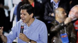 Fernando Haddad, en la convención del Partido de los Trabajadores, el 4 de agosto de 2018 en San Pablo, Brasil
