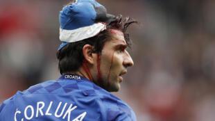 欧洲杯克罗地亚对土耳其,克罗地亚球员科尔卢卡头部受伤2016年6月12日巴黎王子公园体育场