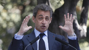 Former French president and Republicans leader Nicolas Sarkozy