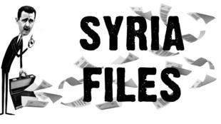 Ilustração no site da Wikileaks para os Arquivos da Síria, que começaram a ser publicados em 5 de julho.