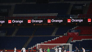 Le Parc de Princes à huis clos à l'occasion du match PSG-Rennes disputé le 7 novembre 2020