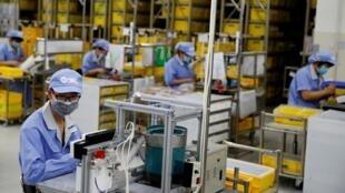 Usine de composants SMC à Pékin, en Chine, le 13 mai 2020.
