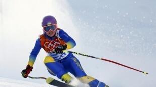La skieuse ukrainienne Bogdana Matsotska .
