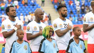 """Timu ya taifa ya DRC """"Leopards"""" wakati wa michuano ya AFCON 2017."""