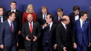 Các lãnh đạo Châu Âu tại thượng đỉnh Bruxelles, 30/08/2014.