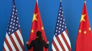 中美兩國國旗資料圖片