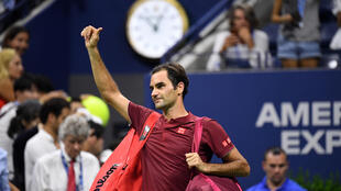 Roger Federer of Switzerland walks off the court after his loss to John Millman of Australia on day eight of the 2018 U.S. Open tennis tournament, Sep 3, 2018; New York, NY, USA