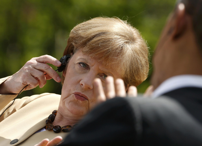 Shugabar gwamnatin Jamus Angela Merkel tare da Barack Obama na Amurka