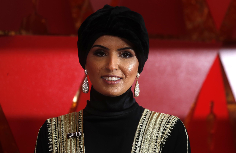 Фатима Аль Ремаихи, глава киноакадемии Катара, тоже со значком Time's Up