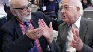 O Prêmio Nobel de Física de 2013 foi oferecido nesta terça-feira (8) ao belga François Englert( a esquerda) e ao britânico Peter Higgs.