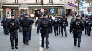 Autoridades mobilizaram milhares de policiais para conter eventuais atos de vandalismo como os registrados nas manifestações dos coletes amarelos.