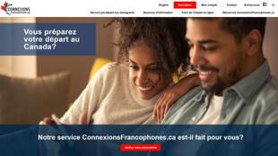la page d'accueil du site de Connexions francophones.