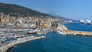 Vue de Bastia en Corse.