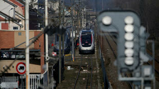 法国贝尔福尔的一处火车站内一景