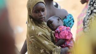 尼日利亚东部逃离的难民