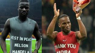 Wachezaji wa klabu ya Glatasaray, Emmanuel Eboue na Didier Drogba