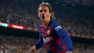 Antoine Griezman yayin wasan da Barcelona ta lallasa Real Betis da kwallaye 5-2