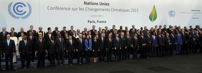 Líderes das delegações presentes na COP 21 em Paris