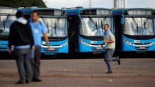 Dans les grandes villes, comme ici à Brasilia, la capitale, les transports en commun devraient être perturbés, ce 14 juin 2019.