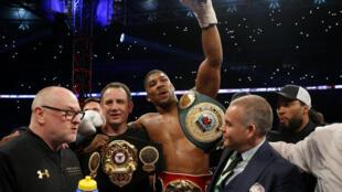 Zakaran damben boxing na duniya Anthony Joshua wanda ya doke Wladimir Klitschko a damben duniya a Wembley
