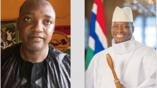 Raisi Mteule wa Gambia Adama Barrow na Yahya Jammeh anayemaliza muda wake
