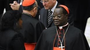 Askofu mkuu wa zamani wa jimbo la Kinshasa Laurent Monsengwo punde tu kabla ya uteuzi wake kama kadinali,  novemba 2010.
