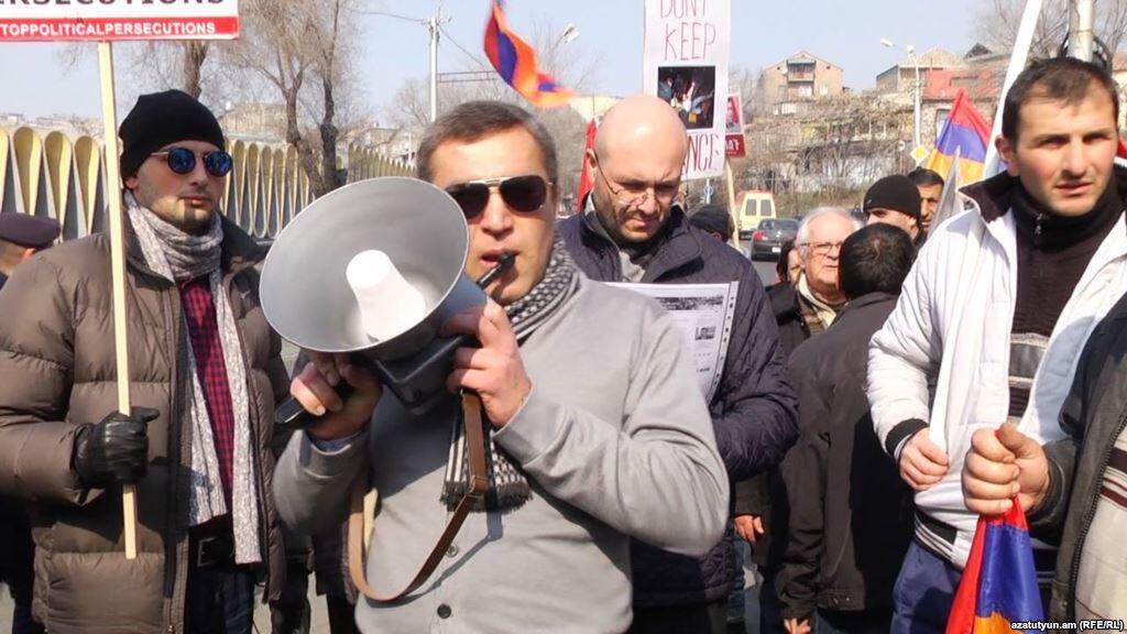 Шествие членов и сторонников движения «Новая Армения», 16 февраля 2016.