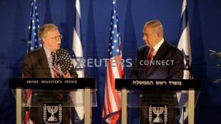 U.S. National Security Adviser John Bolton meets Israeli Prime Minister Benjamin Netanyahu in Jerusalem January 6, 2019.