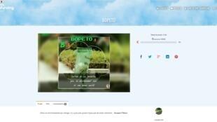 La page d'accueil du site internet de l'organisation Bopeto.