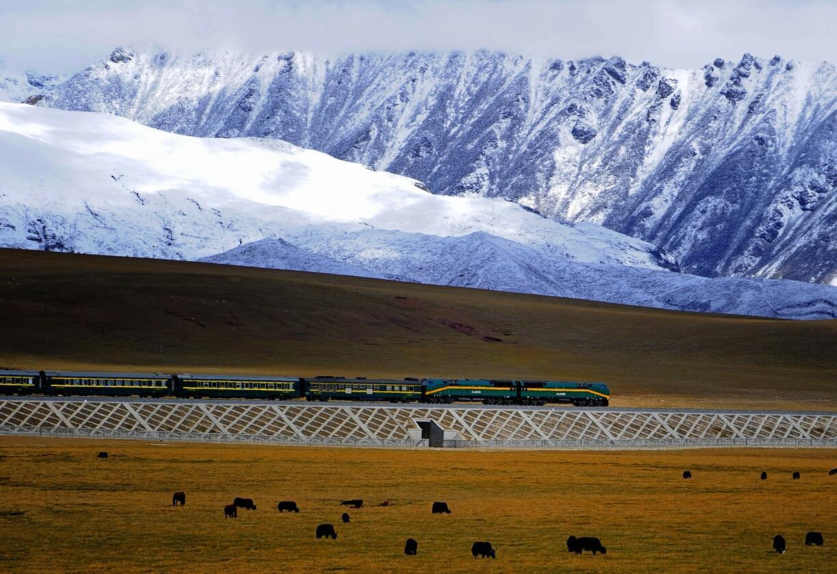 The Qinghai-Tibet railway opened in 2006 and contributes to the changing landscape and demography of the region.