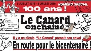 Detalle de la portada de Le Canard Enchaîné del miércoles 6 de julio de 2016.