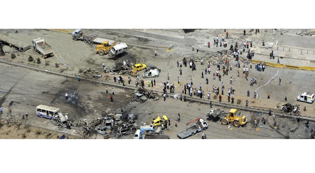 Место двойного взрыва в Дамаске 10/05/2012