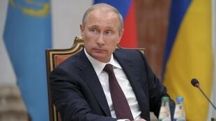 O presidente russo Vladimir Putin, durante a cúpula regional em Minsk, na última terça-feira