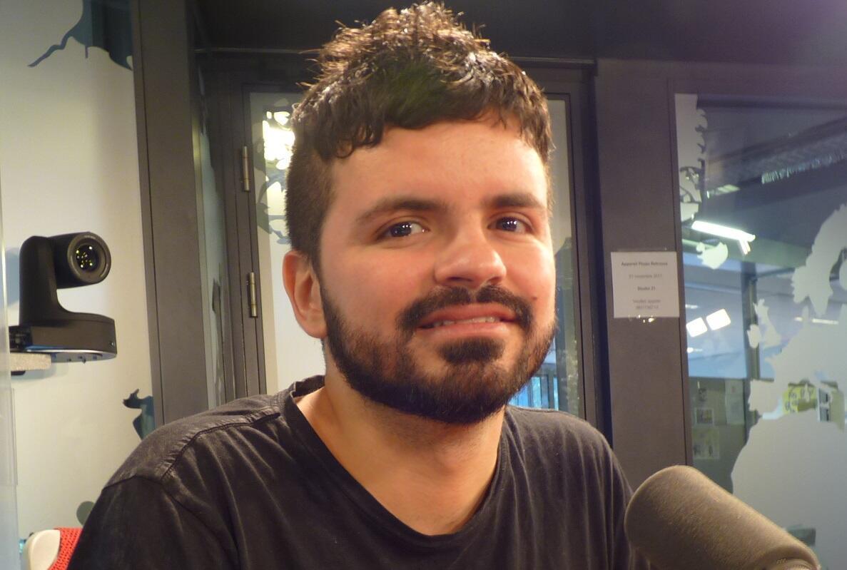 Juan Sebastián Mesa en los estudios de RFI