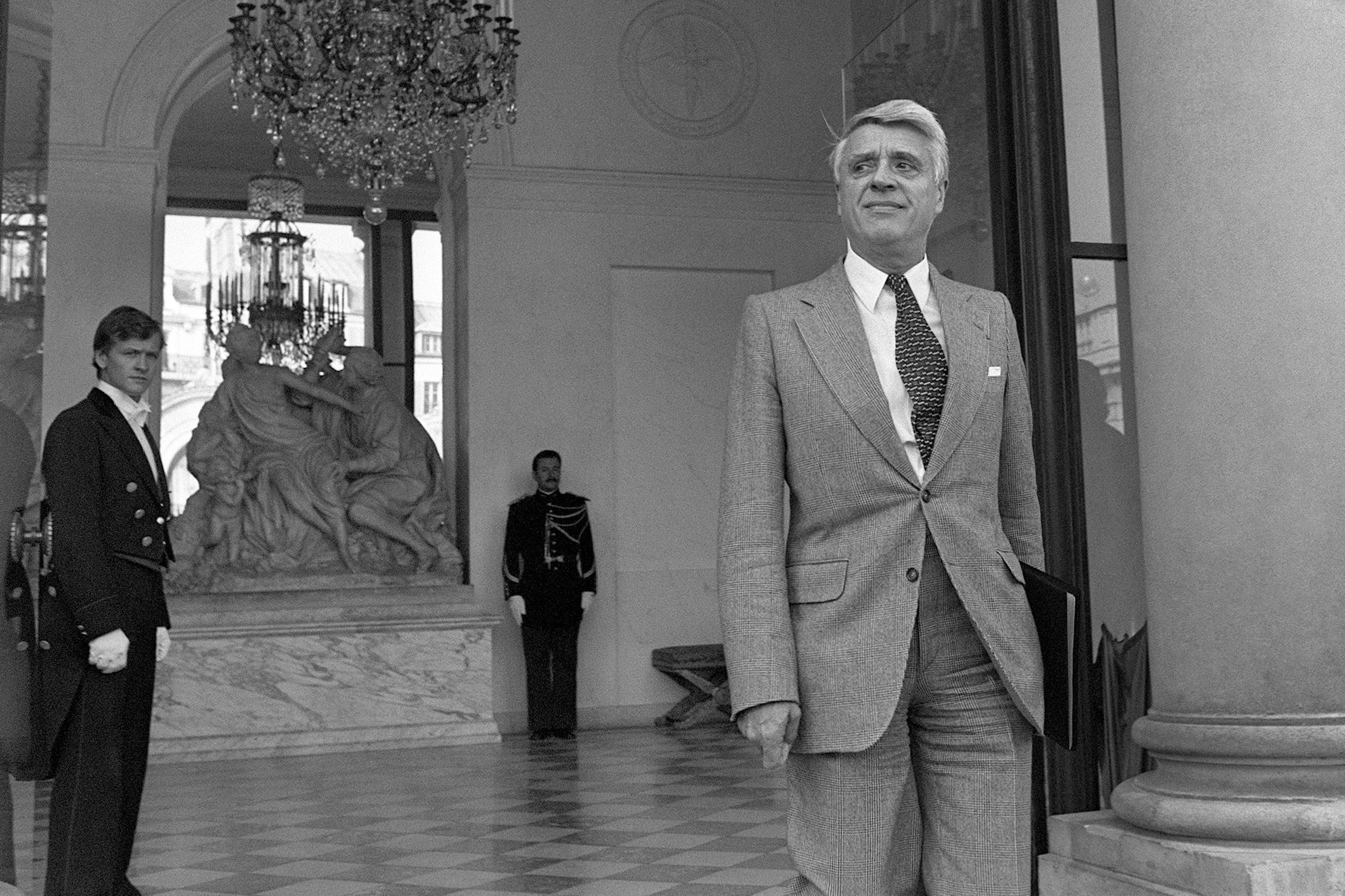 Robert Boulin at the Elysee palace in Paris on 26 September 1979, just weeks before his death
