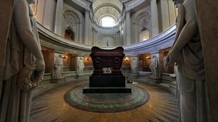 Napoleon's remains were taken back to Paris where he lies in a vast marble tomb beneath the dome of the Invalides military hospital