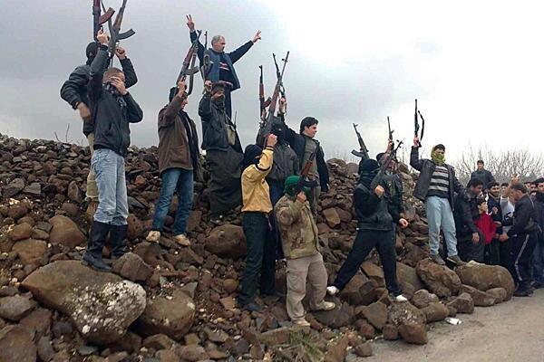 Baadhi ya wapiganaji wa jeshi huru la Syria