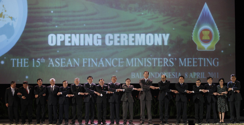 Buổi khai mạc cuộc họp các bộ trưởng tài chính ASEAN tại Bali, Indonesia, ngày 8/4/2011.