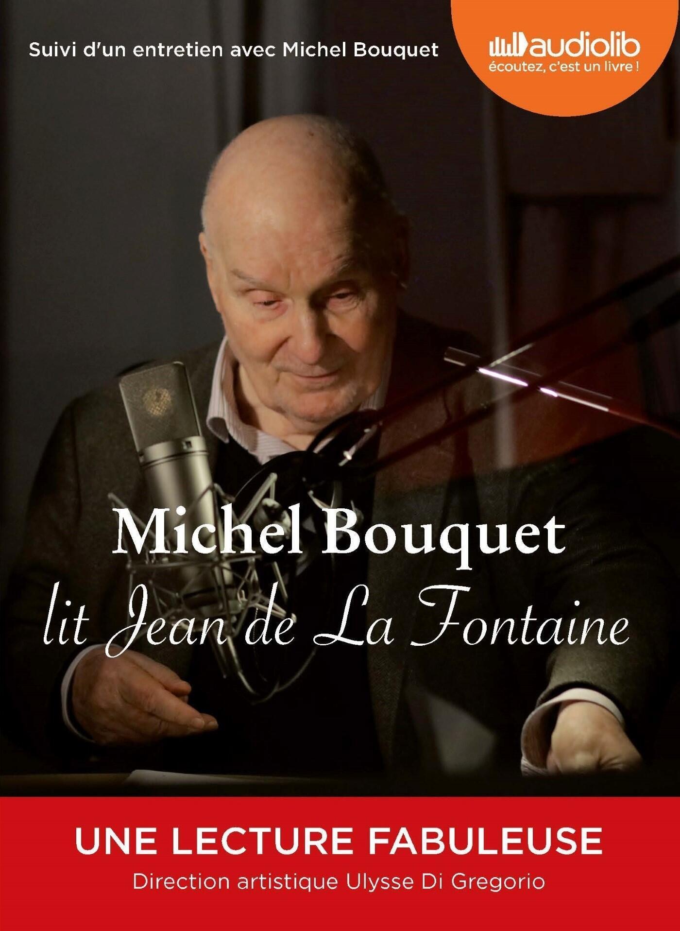Couverture de Michel Bouquet lit Jean de La Fontaine, direction artistique Ulysse Di Gregorio.